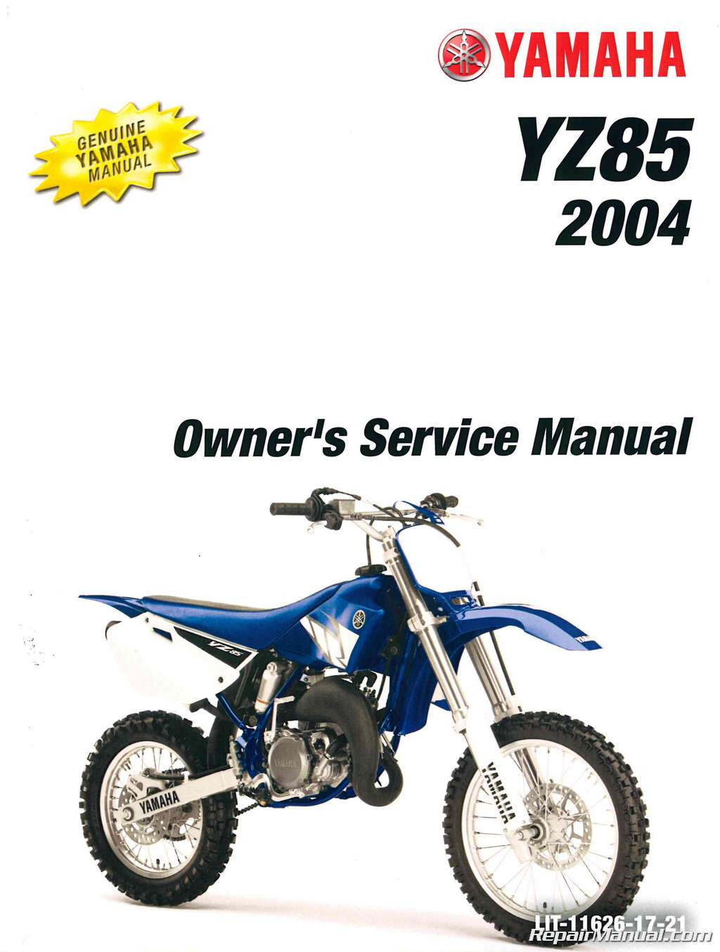 2004 yamaha yz85s motorcycle owners service manual. Black Bedroom Furniture Sets. Home Design Ideas
