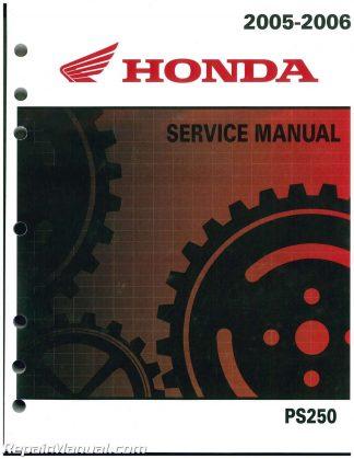 2005 2006 Honda PS250 Big Ruckus Scooter Service Manual