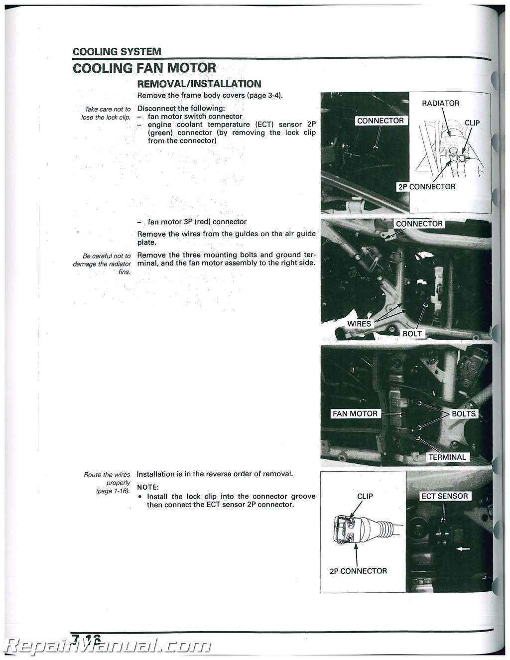 honda jade 250 service manual