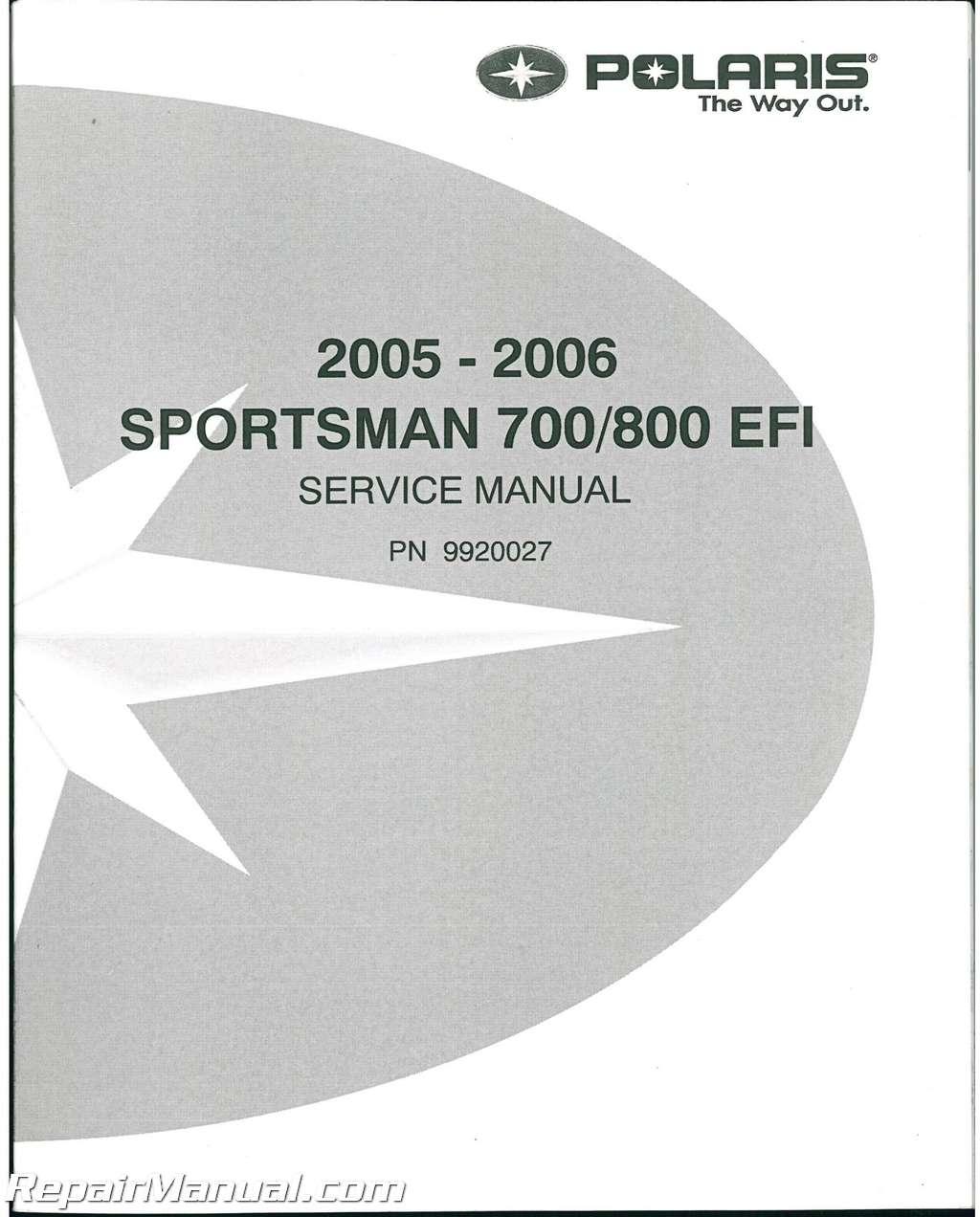 2007 polaris sportsman 800 efi service repair manual.