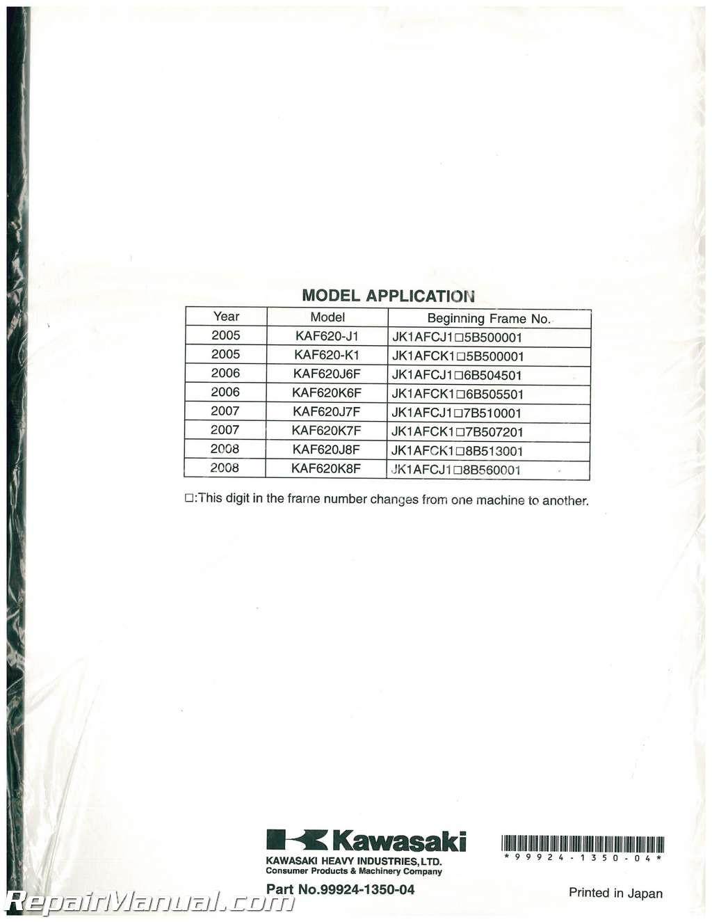 2005 Kawasaki Mule 3010 Manual