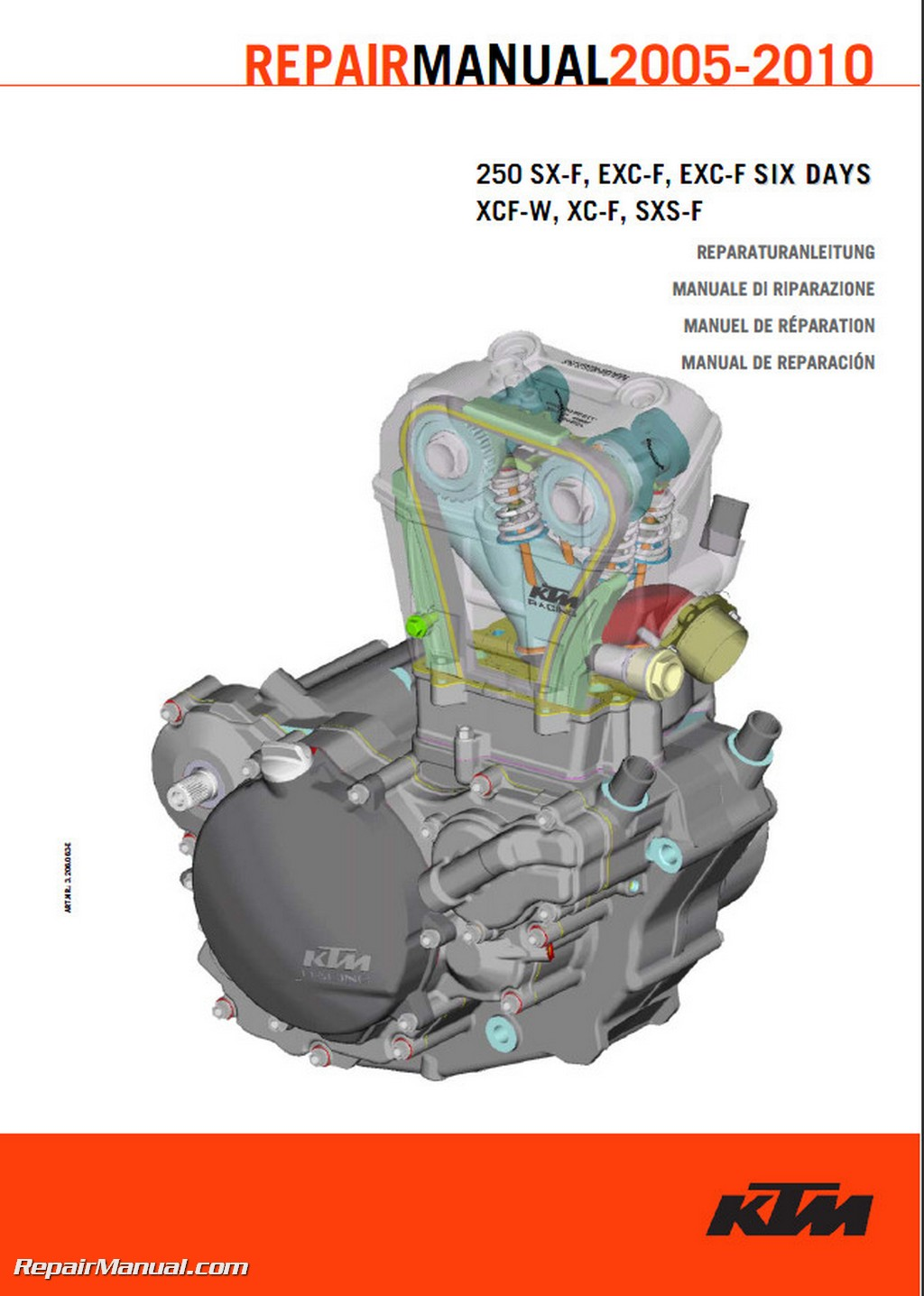 2005 2010 Ktm 250sx F Motorcycle Engine Repair Manual Paper Ebay Wire Schematic 450 Smr