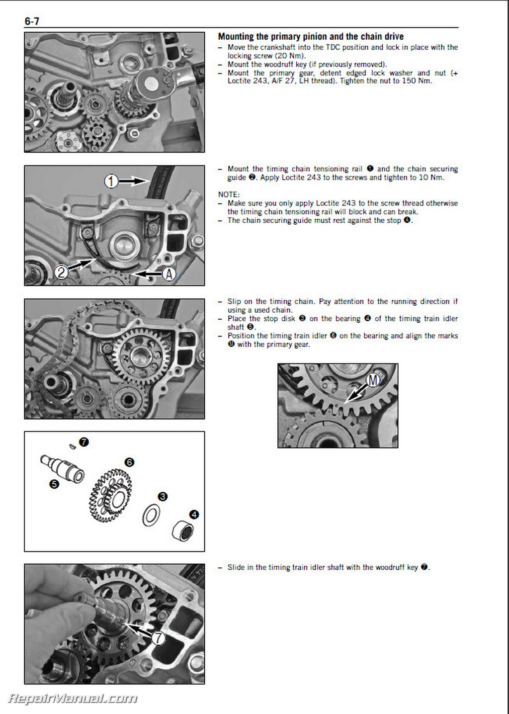 Ktm  Engine Repair Manual