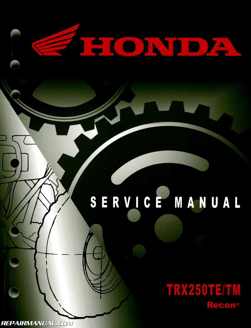 2005 2017 honda trx250te tm recon service manual repair manuals 2005 2014 honda trx250te tm recon service manual