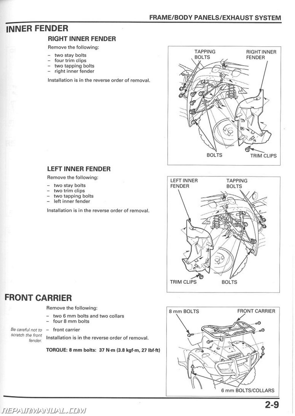 Honda Rubicon Parts Diagram