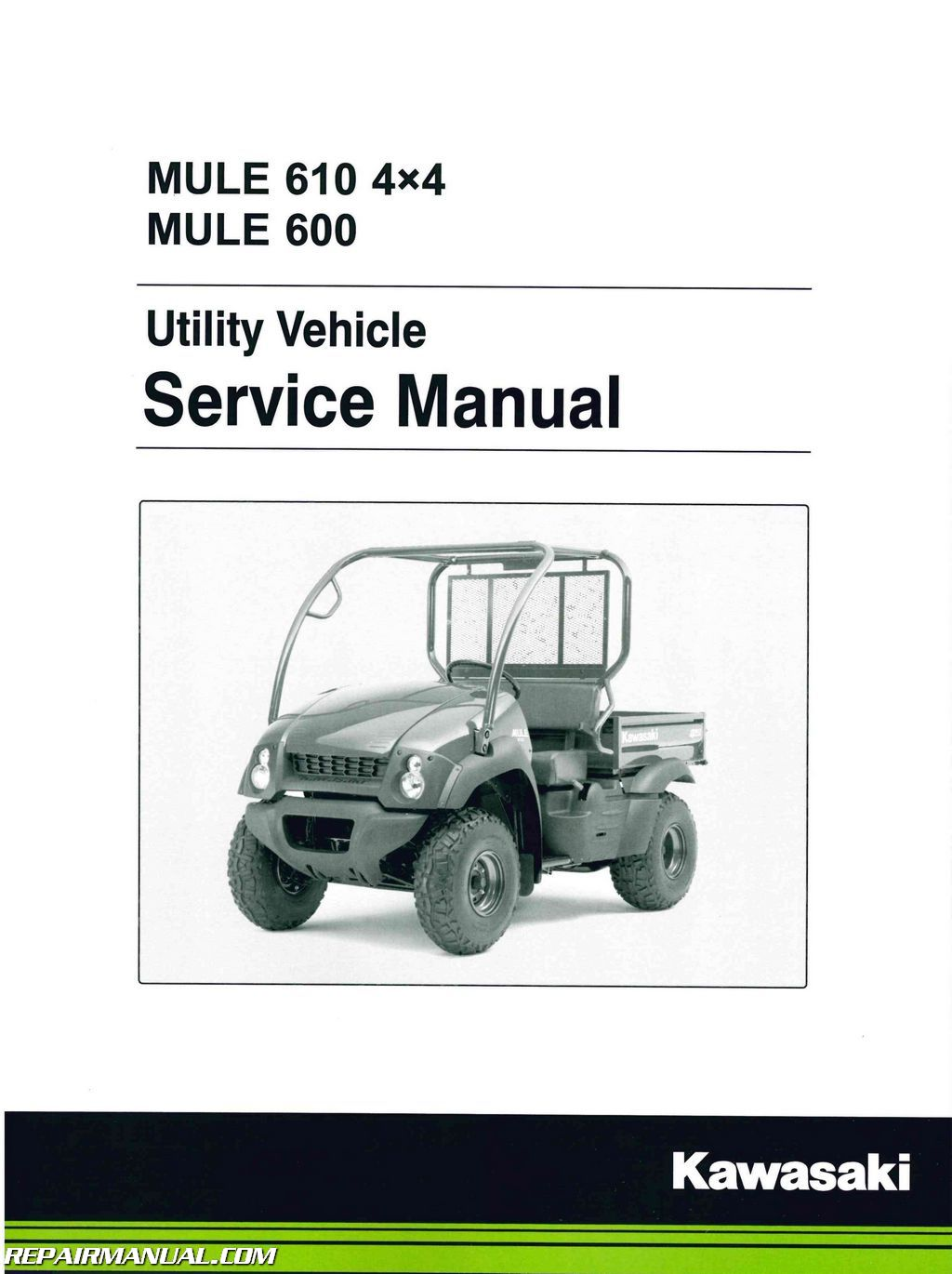 2005-2016 Kawasaki KAF400 UTV Mule 610 4×4 600 Service Manual on