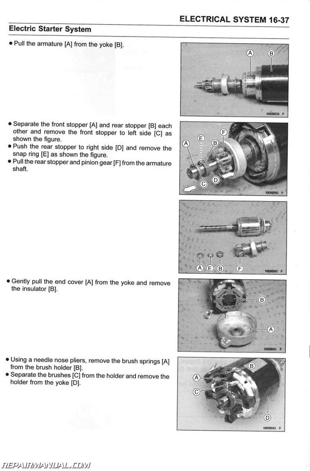 kawasaki kaf utv mule    service manual