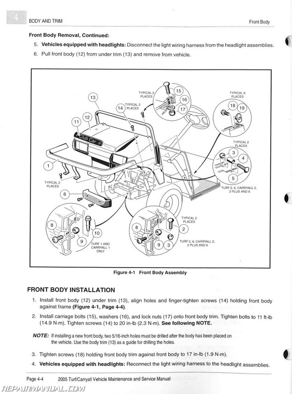 Club Car Carryall 1 Wiring Diagram Turf Books Of 6 Get Free Image About