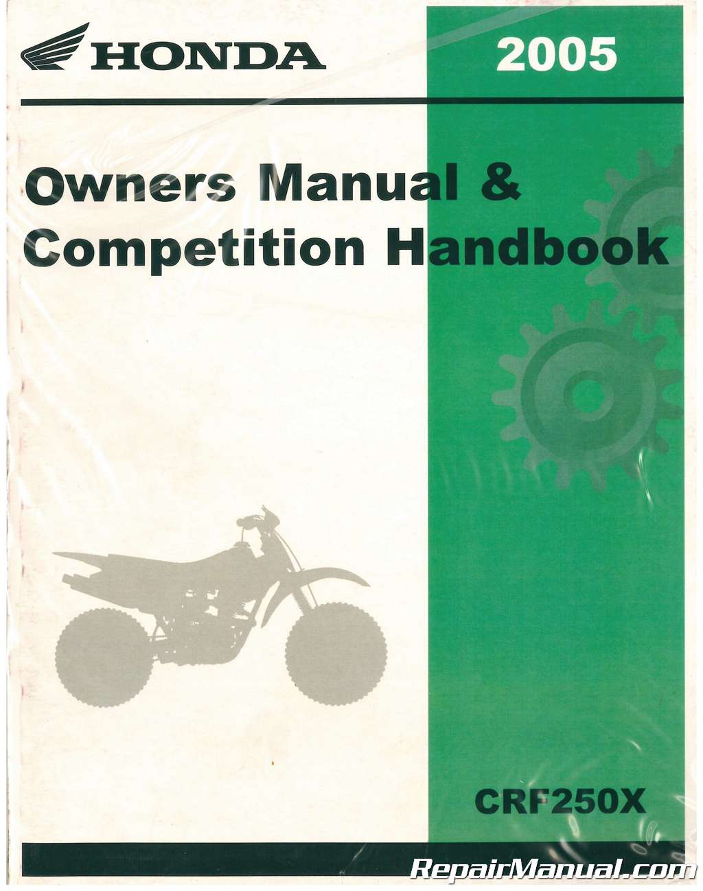 2005 honda crf250x motorcycle owners manual competition handbook
