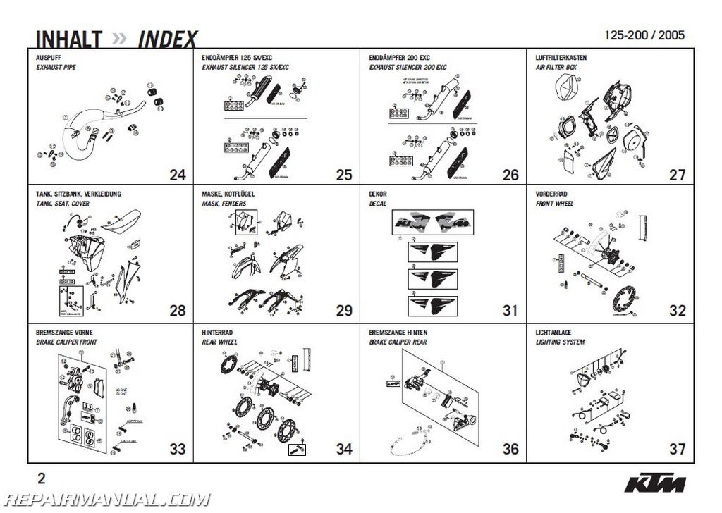 Ktm Exc Parts Manual