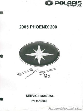 2005 polaris genuine atv phoenix 200 owner/maintenance manual.