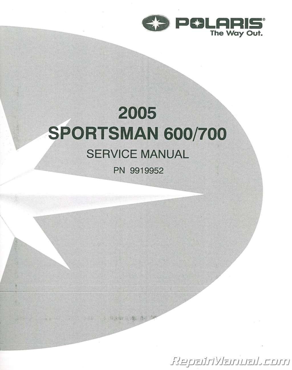 2005 Polaris Sportsman 600 700 Twin Service Manual Wiring Diagram