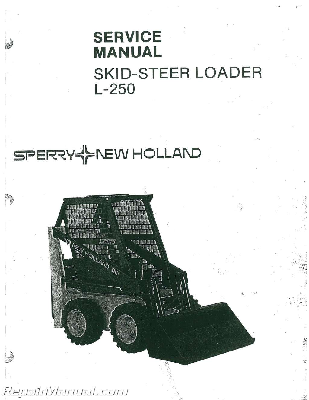 Service Manual for New holland lx885 turbo skid Steer