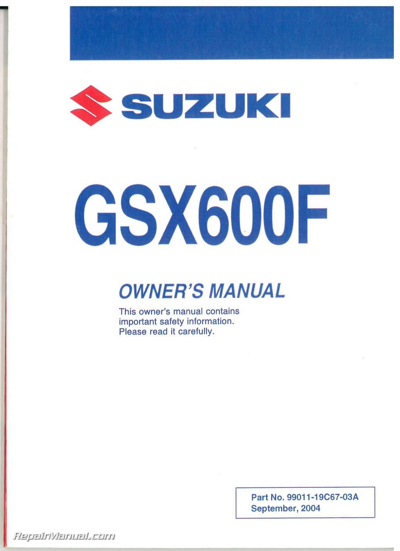 Suzuki Katana  Owners Manual
