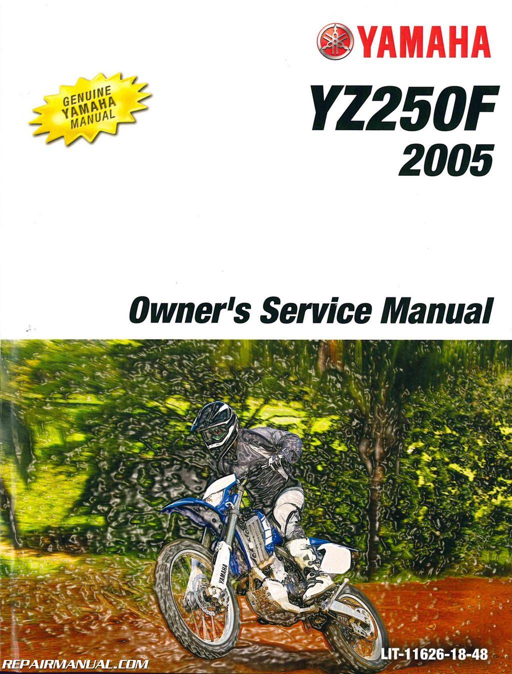 yamaha yz250t1 2005 factory service repair manual