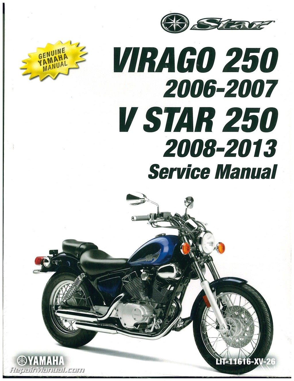 2006 2007 yamaha xv250w1 w1c virago 2008 2014 v star motorcycle rh repairmanual com Operators Manual Car Owners Manual