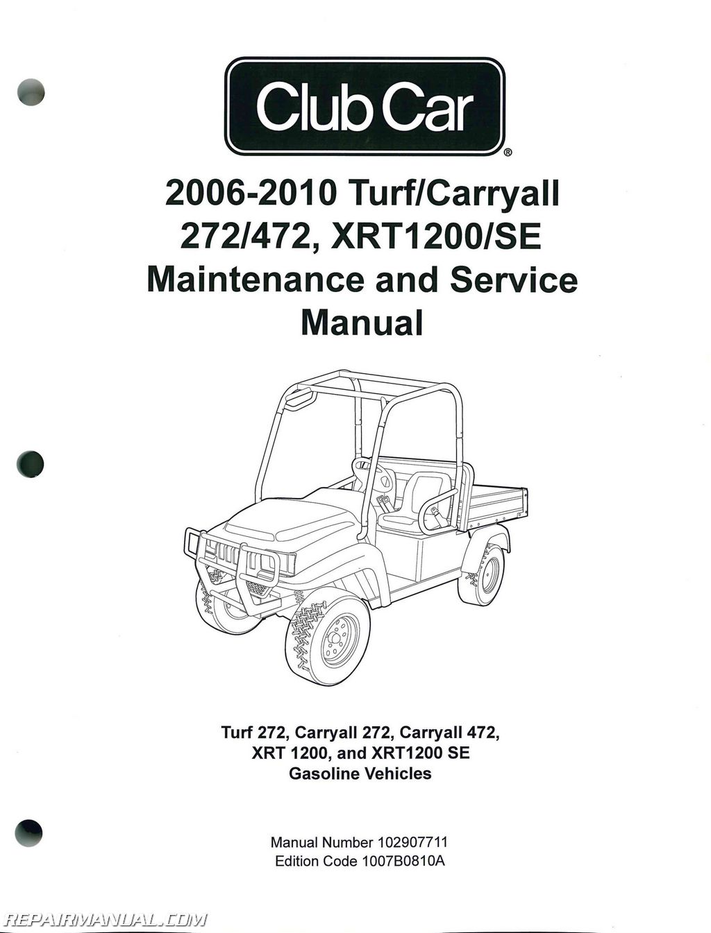 2006-2010 club car turf, carryall 272 472, xrt1200 se turf 272,