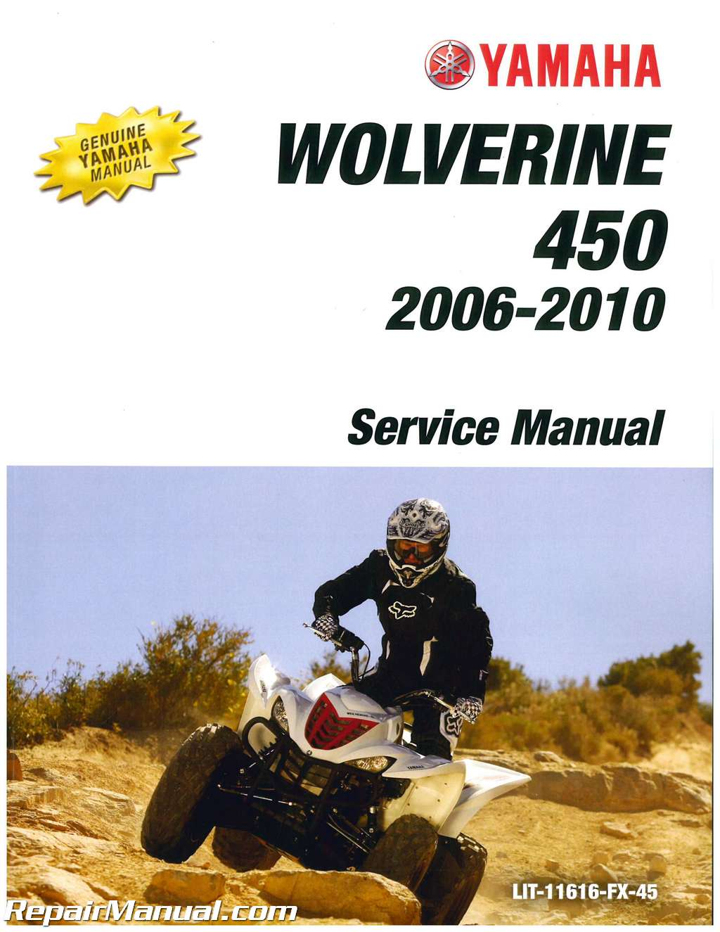 2006 2010 yamaha yfm450 wolverine 450 atv service manual rh repairmanual com 2006 yamaha wolverine 450 service manual 2006 yamaha wolverine 450 service manual