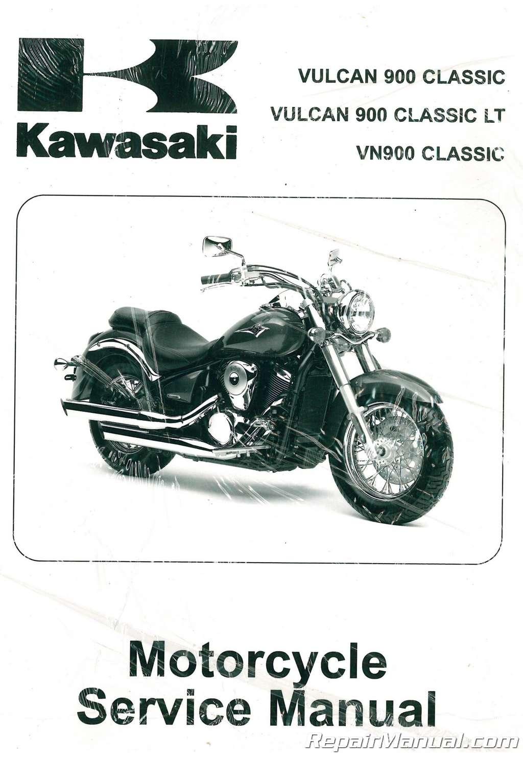 2006-2013 clymer kawasaki vulcan 900 classic lt custom service.
