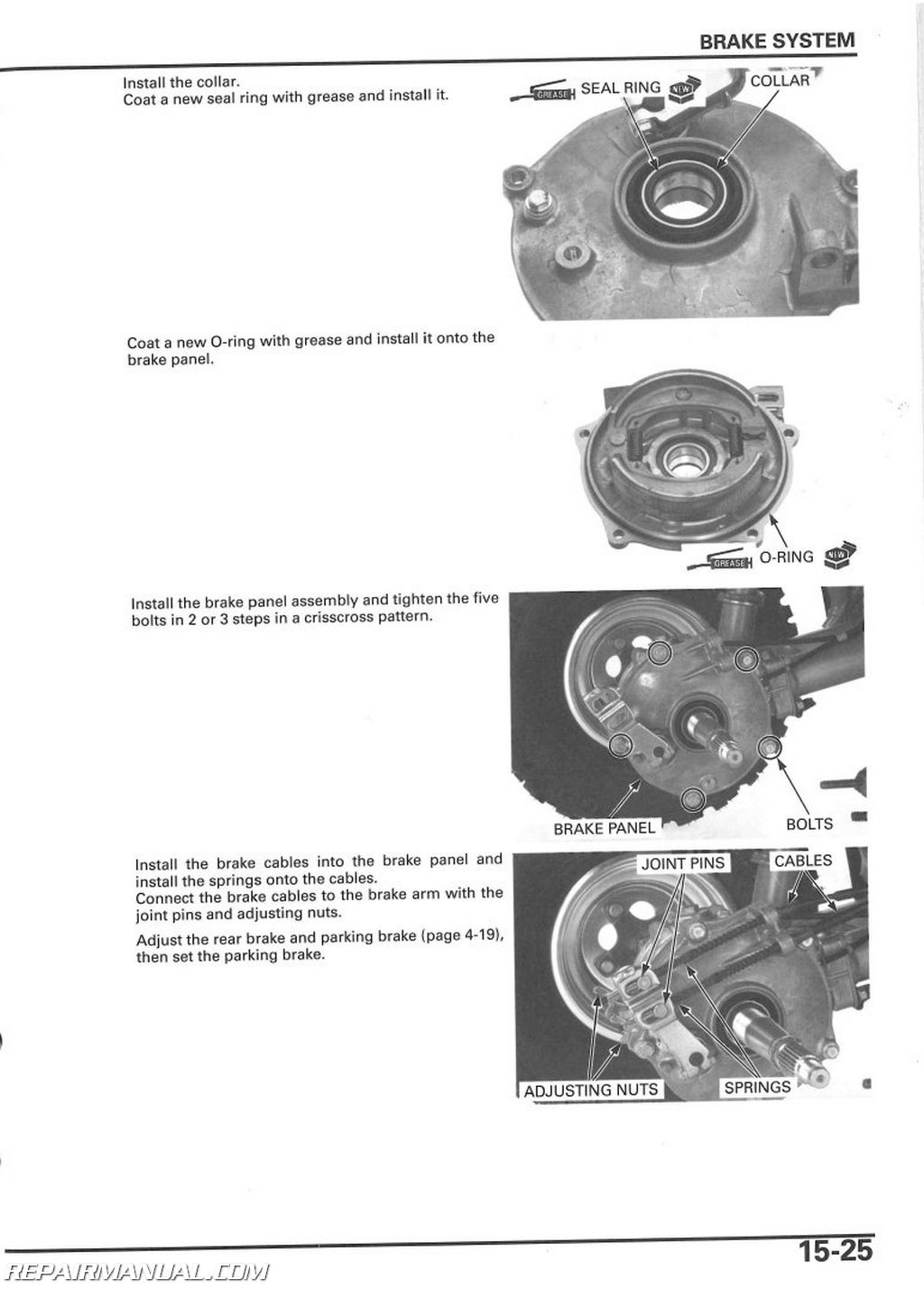 free honda recon 250 repair manual