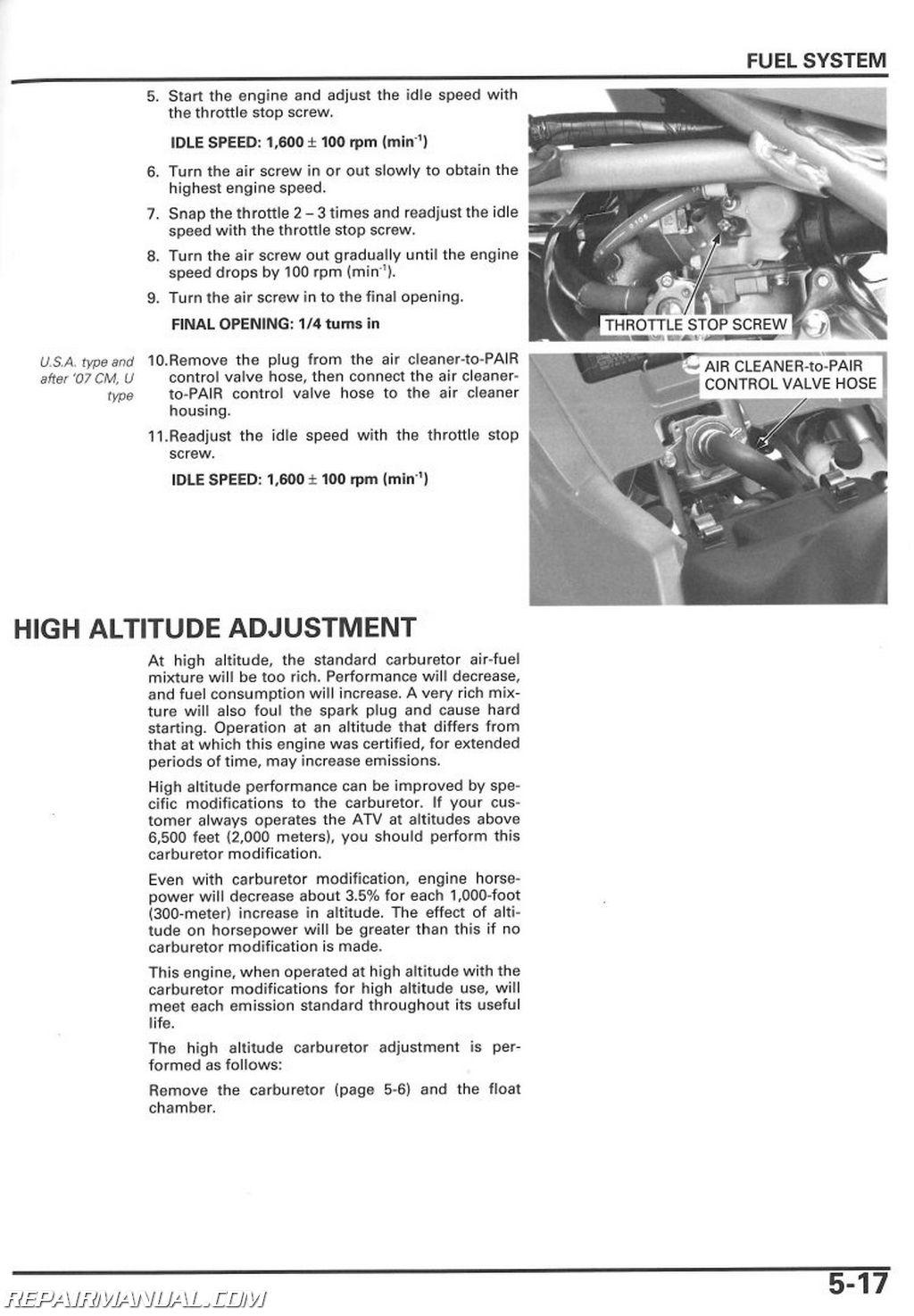 Honda Motorcycle Repair Manuals