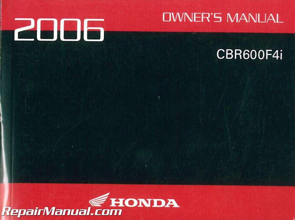 2001 honda cbr600f4i motorcycle owners manual -cbr 600 f4i-cbr600.