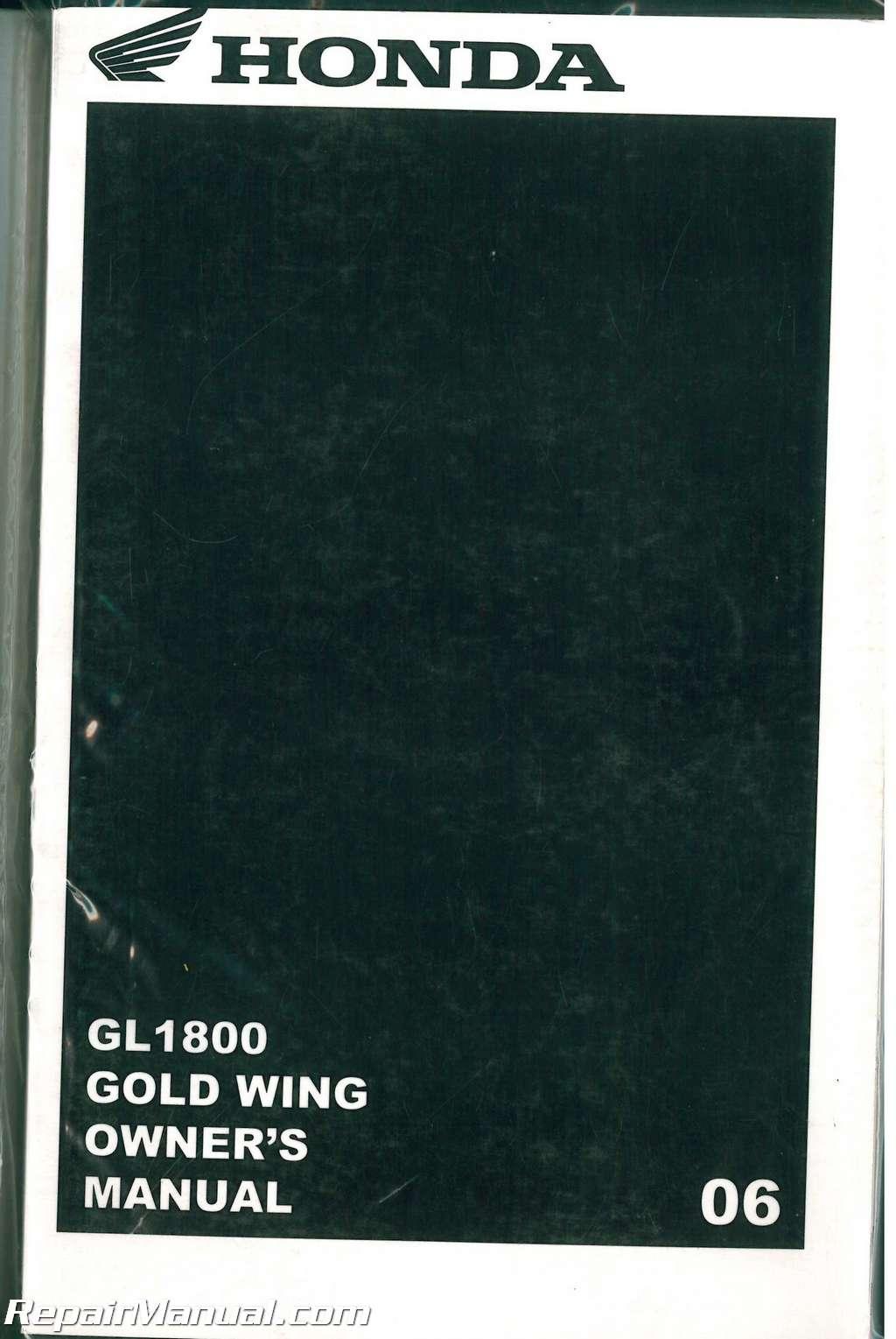 Honda Goldwing Motorcycle Repair Manual