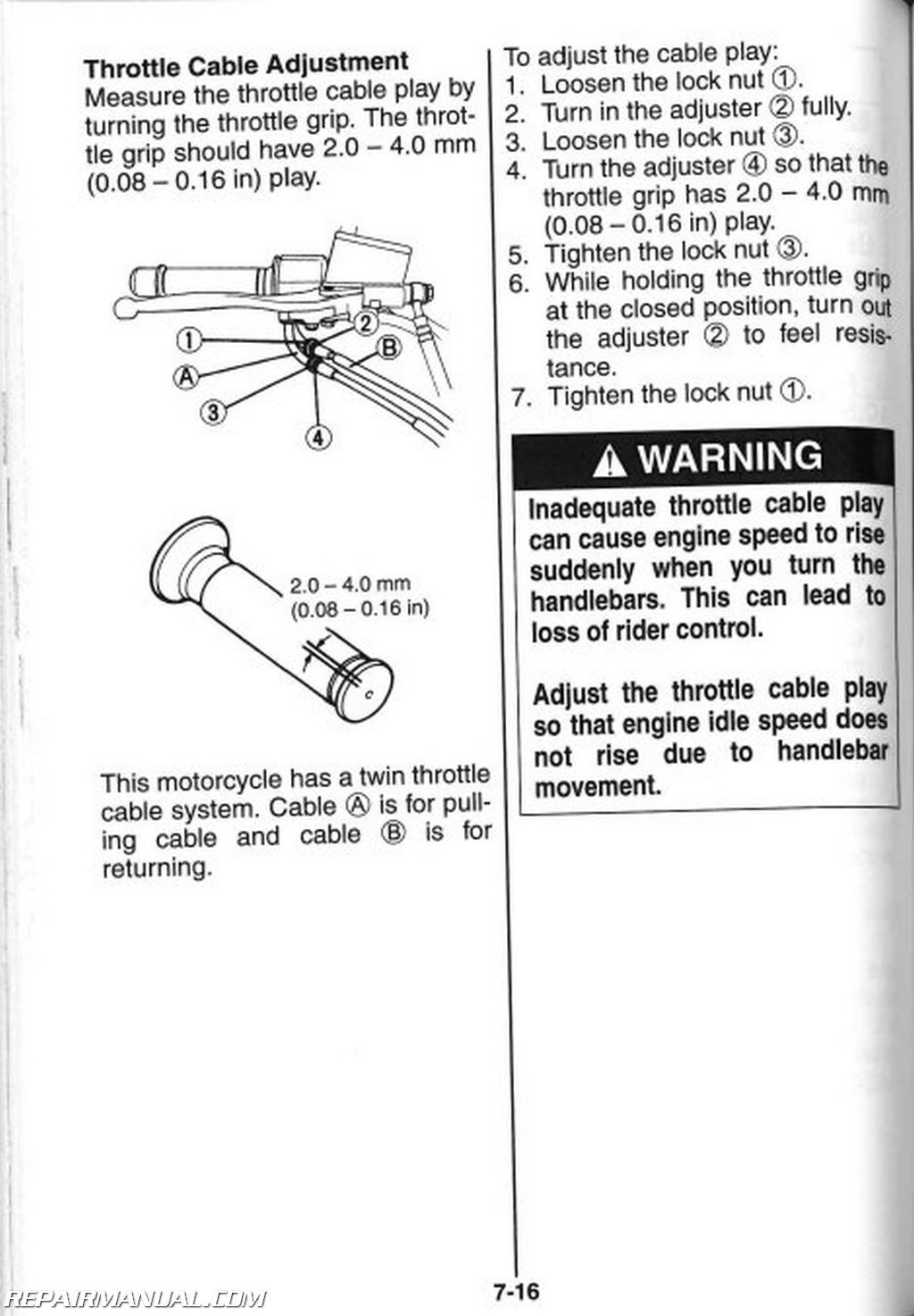 Suzuki Owners Manual Marauder 800vz