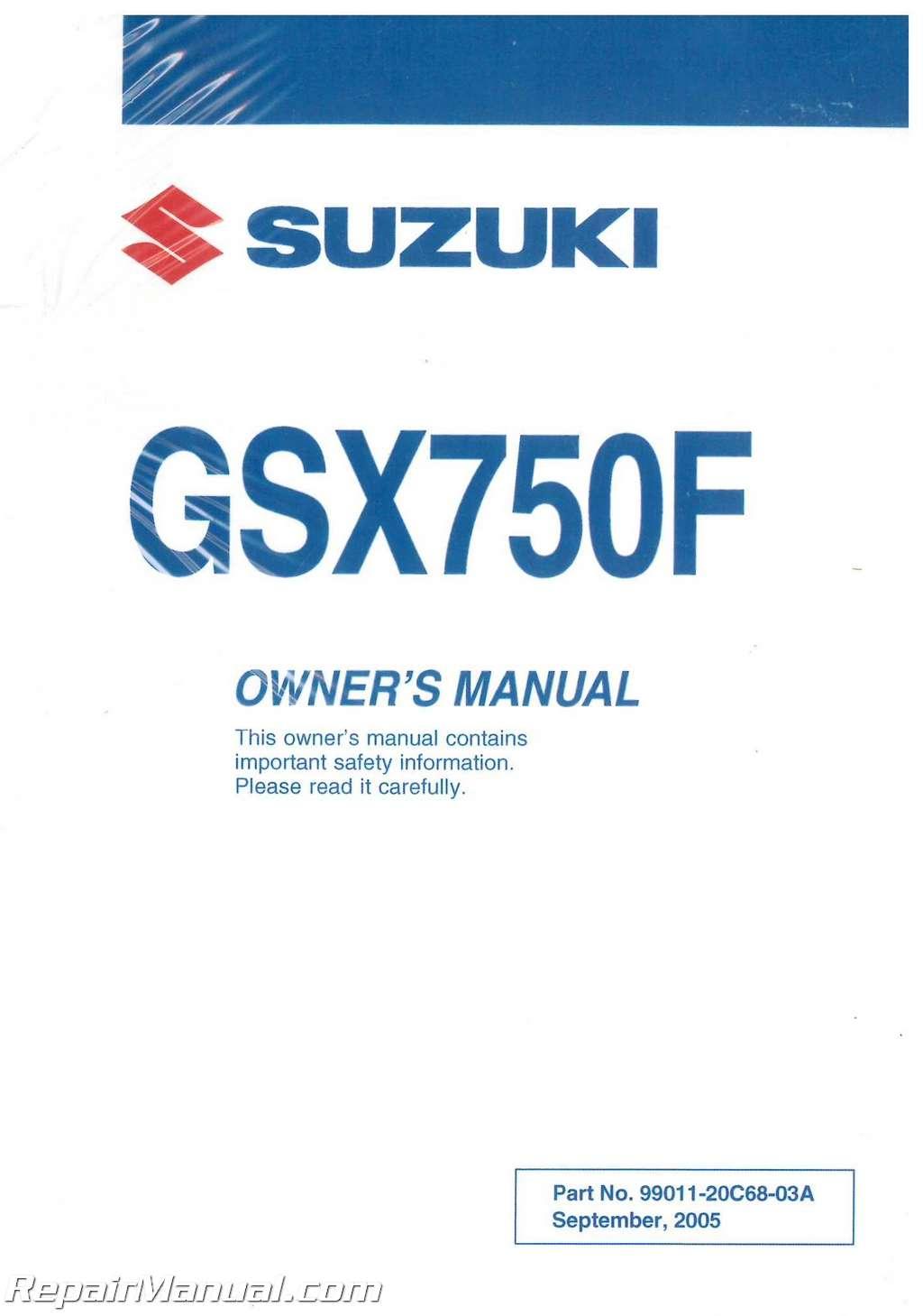 1992 Suzuki Katana 750 Owners Manual