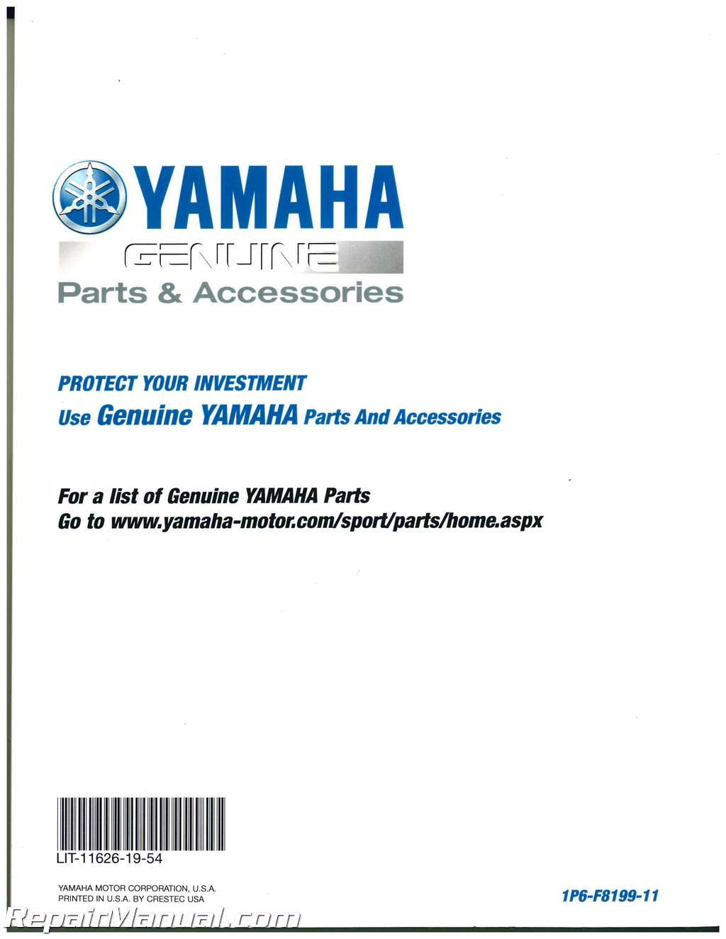 Yamaha Ttr Owners Manual