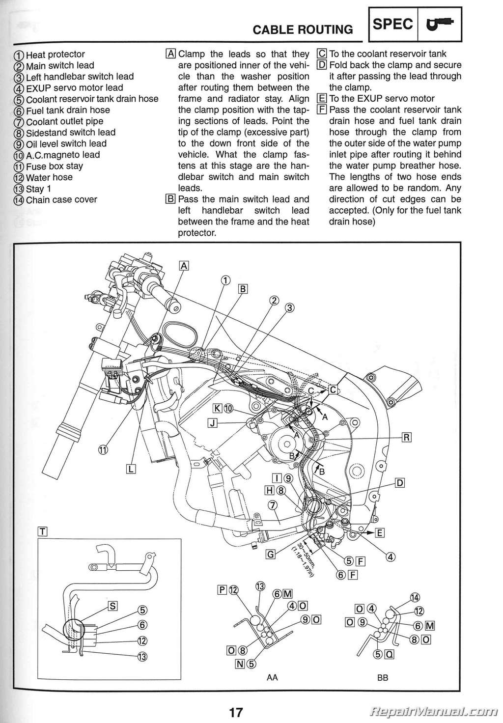 2012 Yzf R1 Wire Diagram Wiring Library 2000 Yamaha 2006 Motorcycle Service Manual Rh Repairmanual Review