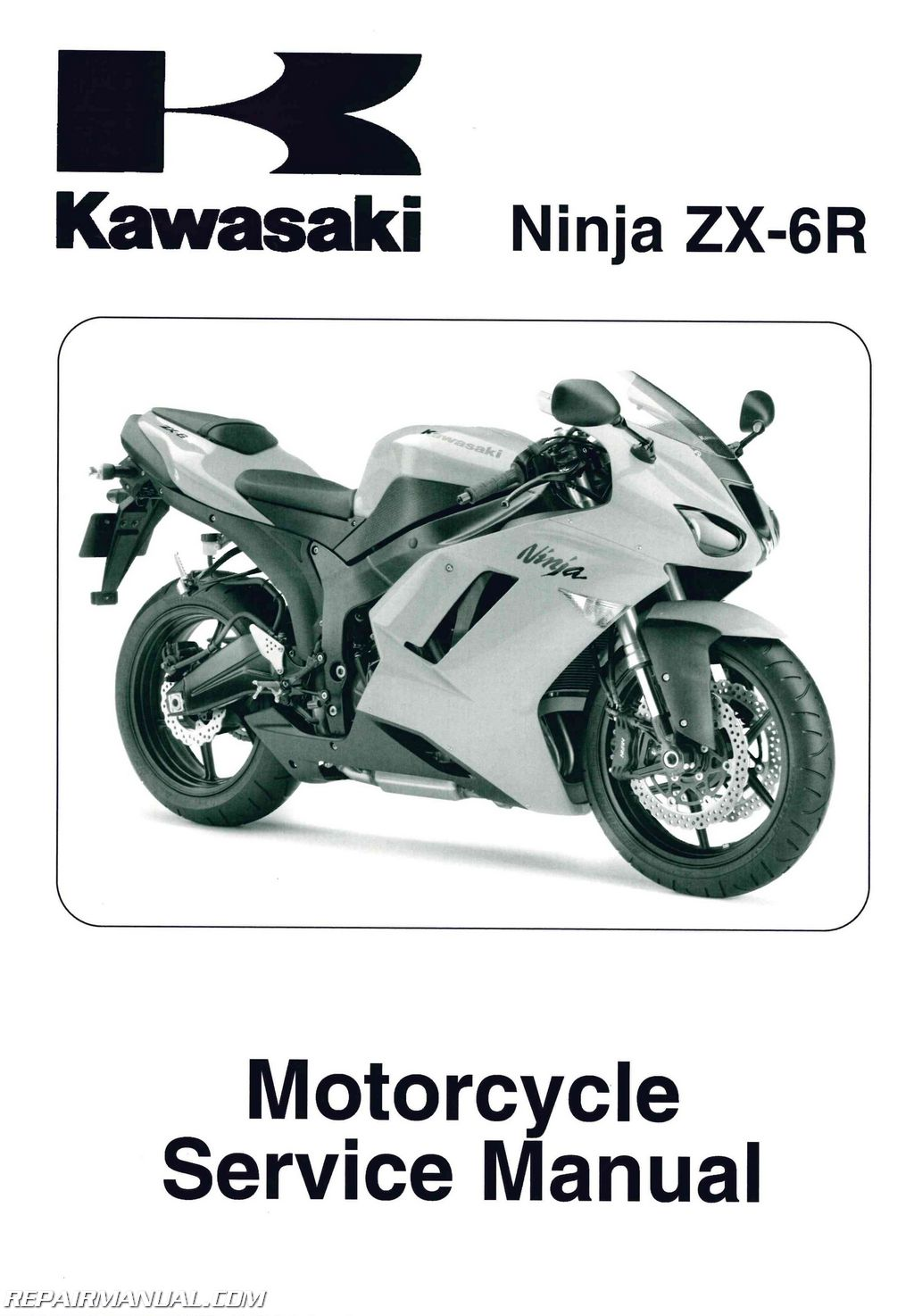 2007 2008 kawasaki ninja zx 6r zx600p motorcycle service manual rh repairmanual com 07 Zx6r Parts 2007 kawasaki zx6r owners manual