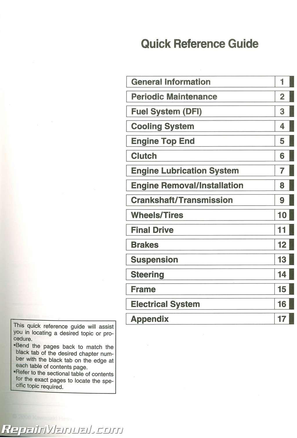99924-1369-03 2007-2009 Kawasaki KLE650A Versys Service Manual ...