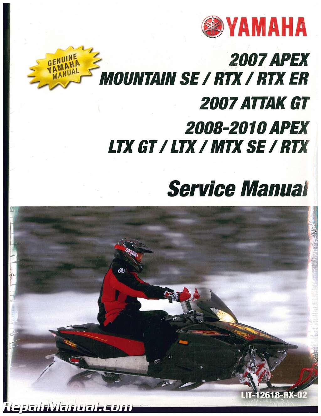 2007 2012 yamaha vk professional vk10 snowmobile factory service repair manual