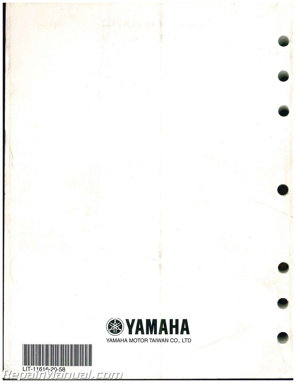 Used 2007 2011 yamaha xf50 c3 scooter service manual for Yamaha xf50 for sale