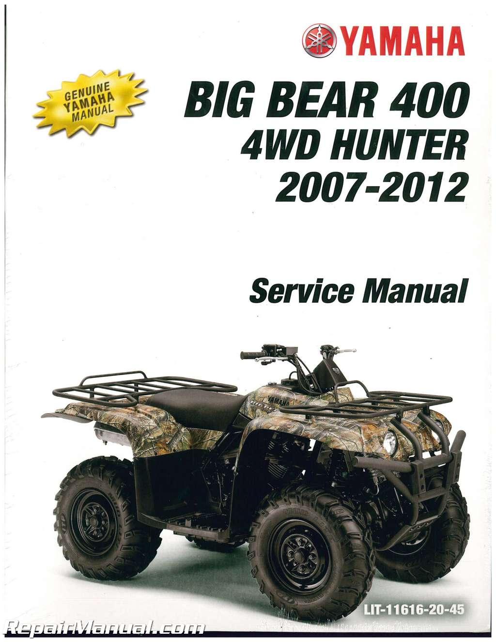 2007 2012 yamaha yfm400 big bear 400 4x4 atv service. Black Bedroom Furniture Sets. Home Design Ideas