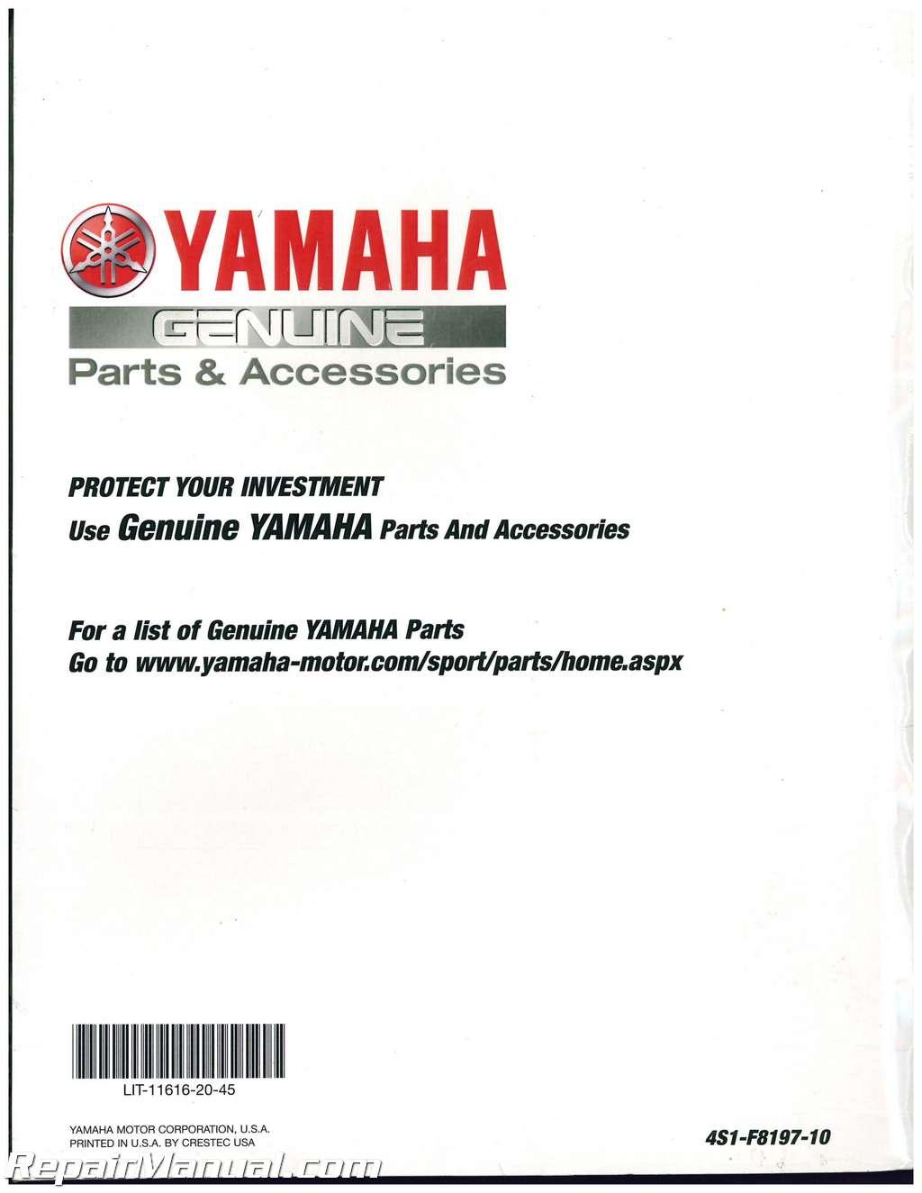 Yamaha Big Bear X Maintenance Manual