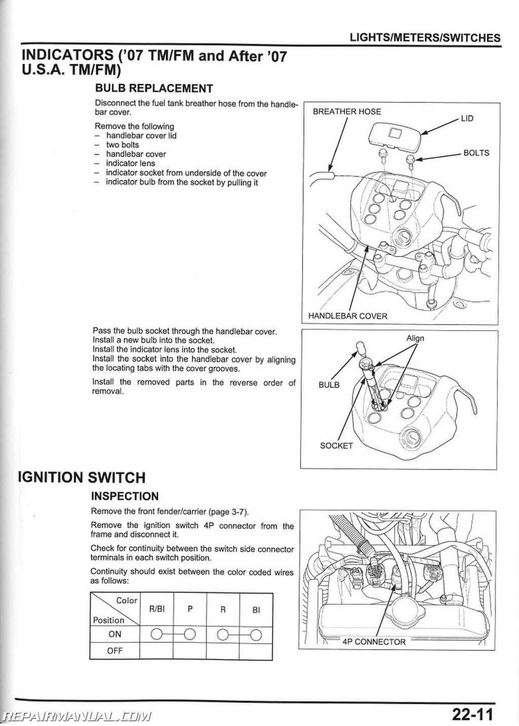 2007 2013 Honda TRX420FE FM TE TM FPE FPM Rancher Service Manual page 2 wiring diagram for a trx420fe readingrat net case 220 wiring diagram at edmiracle.co