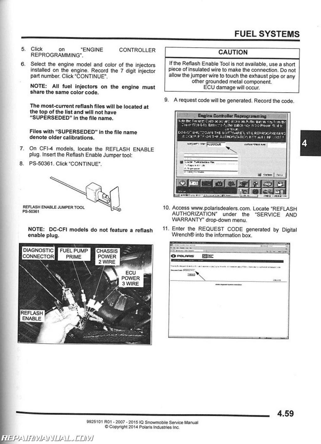 2007 2016 polaris iq snowmobile service manual rh repairmanual com 2001 Polaris Snowmobile Polaris Snowmobile Illustration