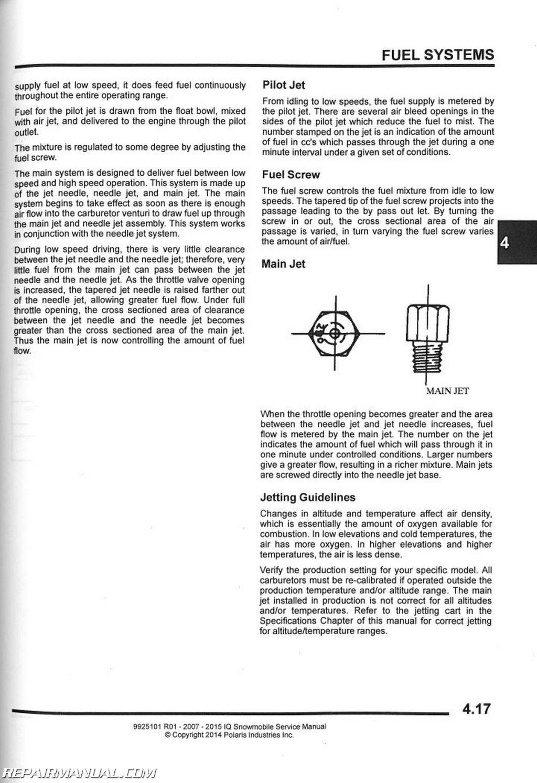 polaris 2 stroke snowmobile full service repair manual 2007