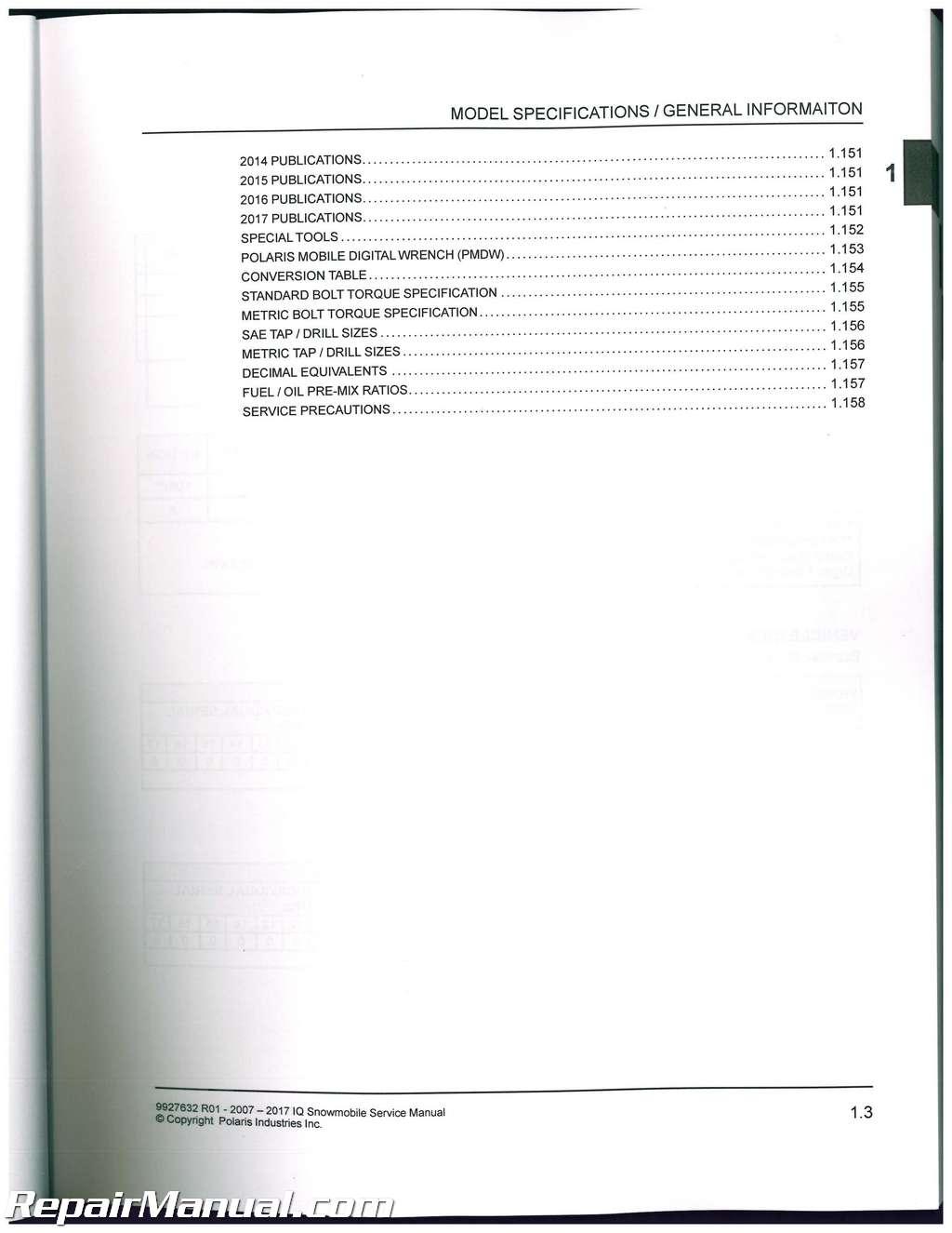 2009 polaris dragon 800 service manual