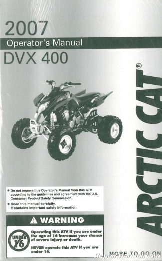2004 Arctic Cat 90 Atv Service Manual