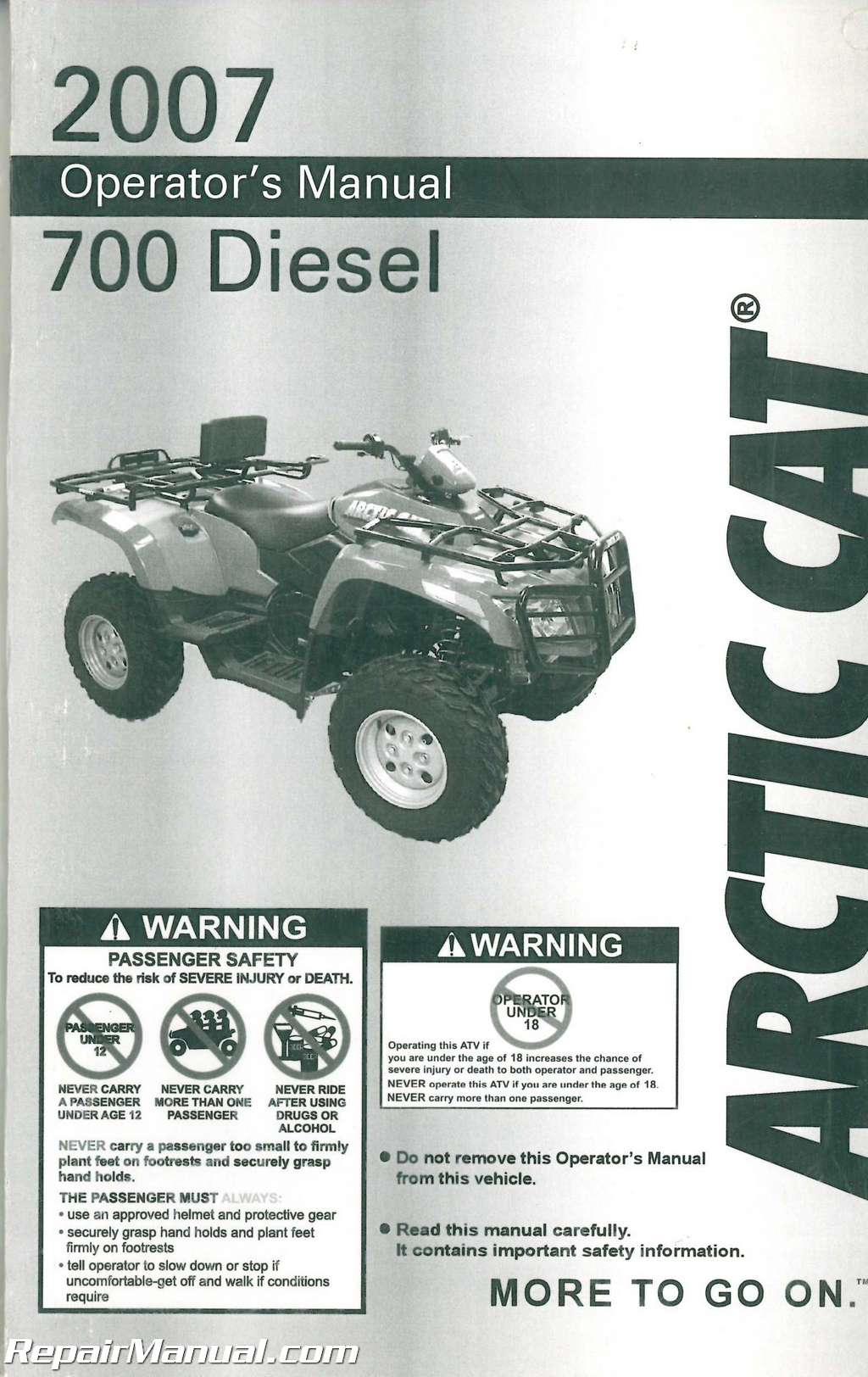 2007 arctic cat 700 diesel atv owners manual rh repairmanual com 2007 arctic cat atv owners manual pdf Arctic Cat ATV Parts Diagrams