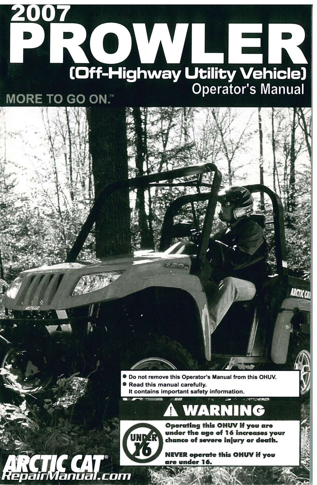 2007 arctic cat prowler side by side owners manual rh repairmanual com arctic cat prowler 700 manual 2009 arctic cat prowler owners manual