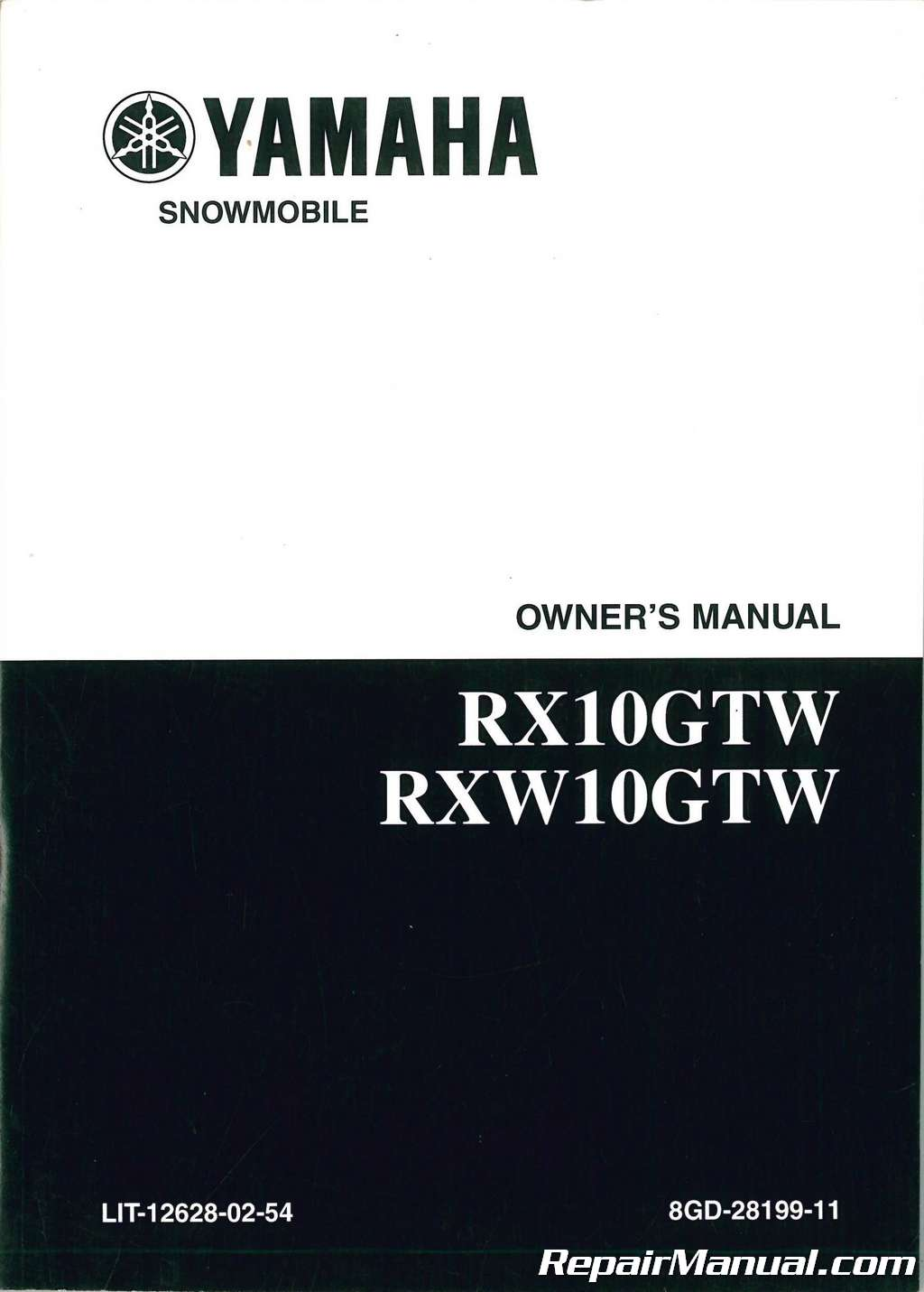 2007 Attak Yamaha Rx10gtw Rxw10gtw Snowmobile Owners Manual   Lit