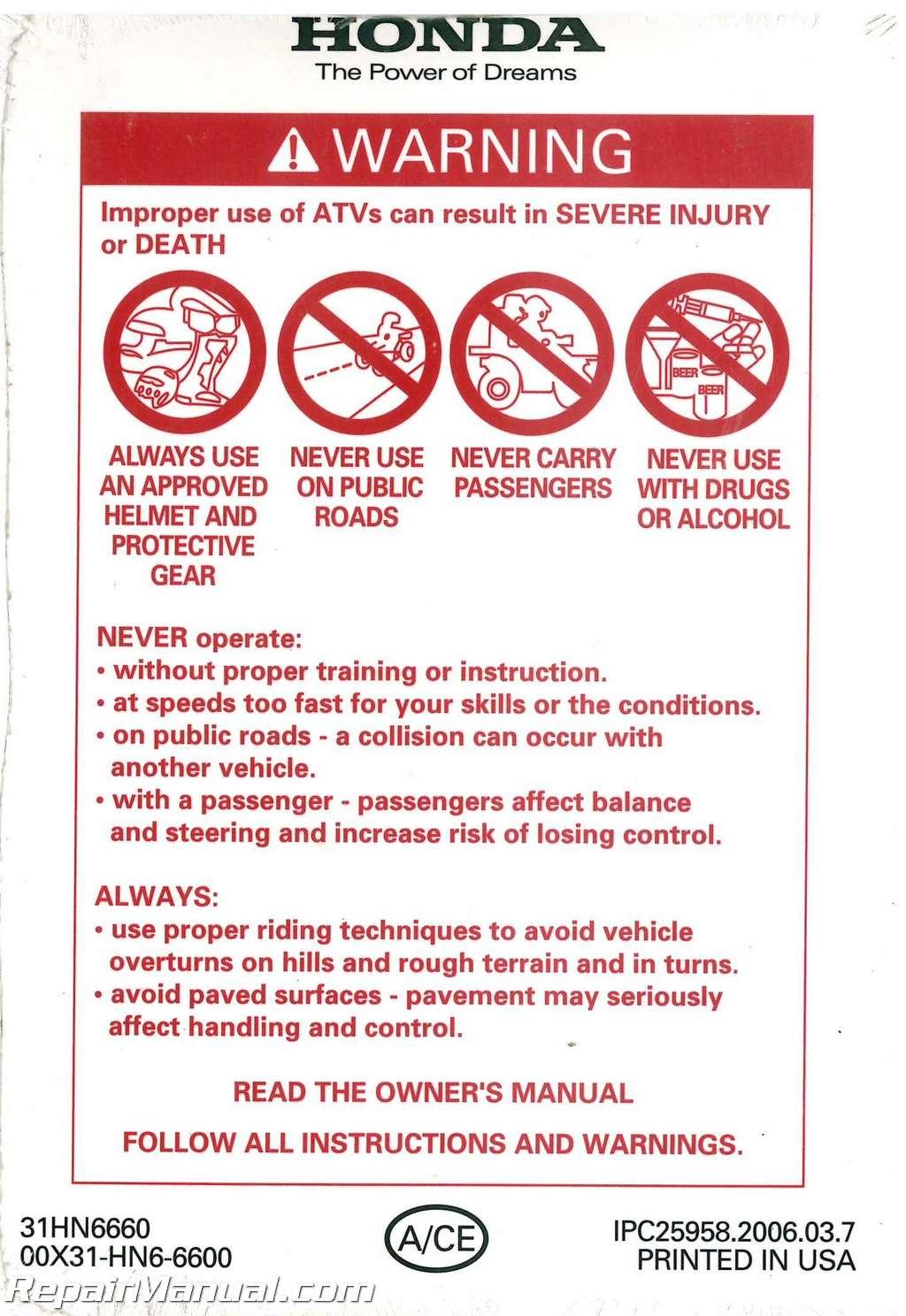 2007 honda odyssey owners manual