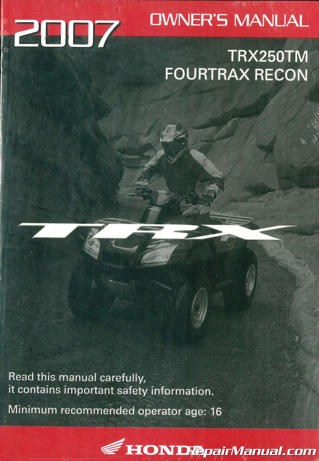 Honda Recon For Sale >> 2007 Honda TRX250TM FourTrax Recon ATV Owners Manual