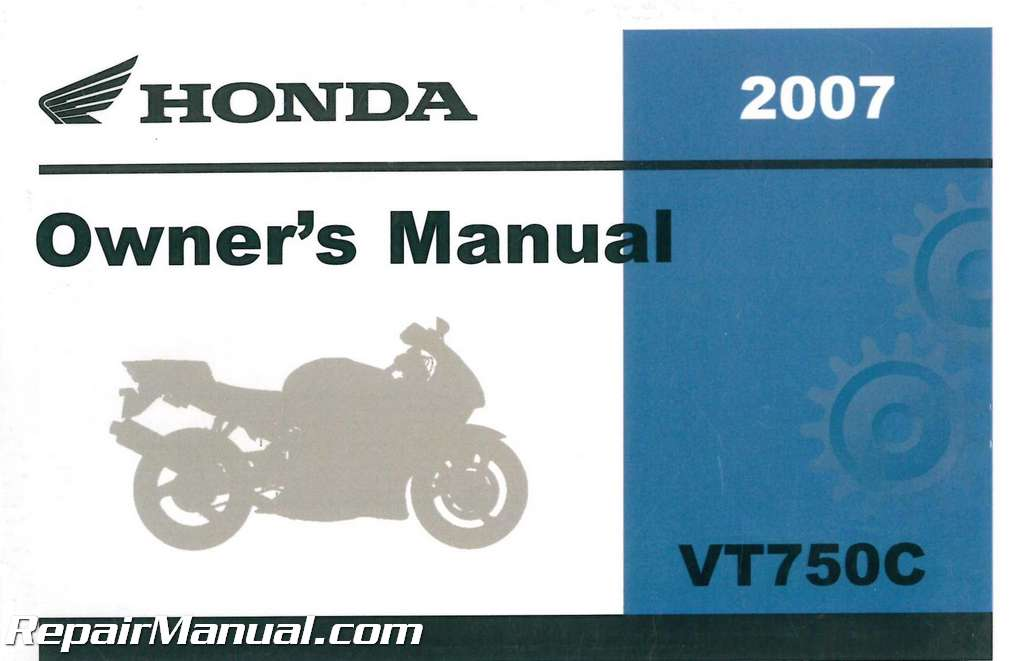 Honda shadow spirit 750 2007 owner manual
