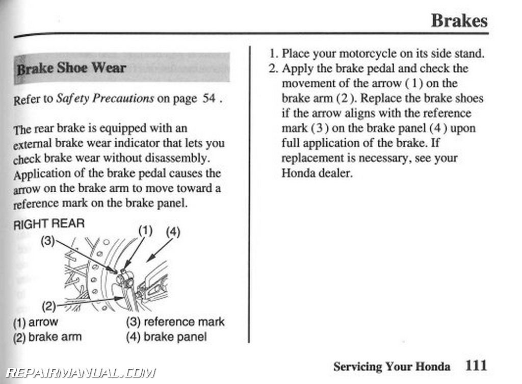 2007 honda vt750c2 shadow spirit motorcycle owners manual rh repairmanual com Instruction Manual Example User Guide