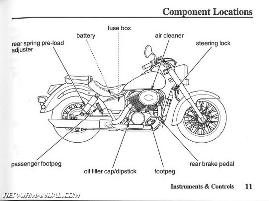 2007 honda vt750c2 shadow spirit motorcycle owners manual rh repairmanual com Honda Owners Manuals Specs Honda CMX 250 Owner's Manual